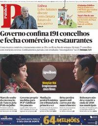 capa Público de 13 novembro 2020