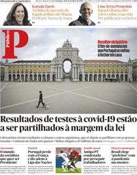 capa Público de 15 novembro 2020