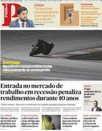 capa Público de 23 novembro 2020