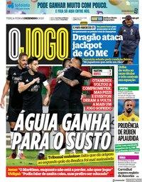 capa Jornal O Jogo de 1 dezembro 2020