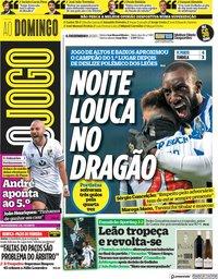 capa Jornal O Jogo de 6 dezembro 2020