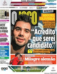 capa Jornal O Jogo de 7 dezembro 2020