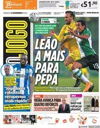capa Jornal O Jogo de 12 dezembro 2020