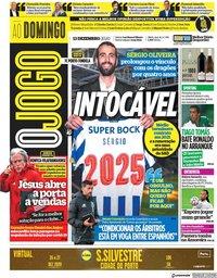 capa Jornal O Jogo de 13 dezembro 2020