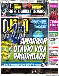 capa Jornal O Jogo de 15 dezembro 2020