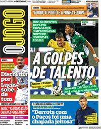 capa Jornal O Jogo de 16 dezembro 2020