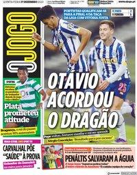 capa Jornal O Jogo de 17 dezembro 2020