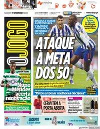 capa Jornal O Jogo de 19 dezembro 2020