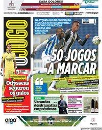 capa Jornal O Jogo de 21 dezembro 2020