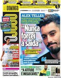 capa Jornal O Jogo de 27 dezembro 2020