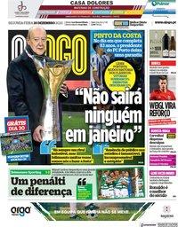 capa Jornal O Jogo de 28 dezembro 2020