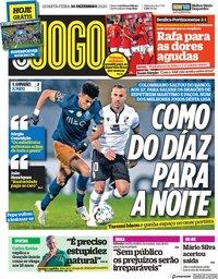 capa Jornal O Jogo de 30 dezembro 2020