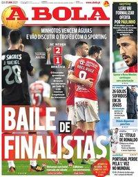 capa Jornal A Bola de 21 janeiro 2021