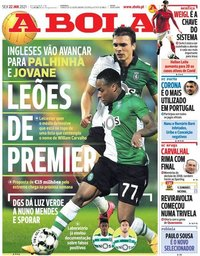 capa Jornal A Bola de 22 janeiro 2021