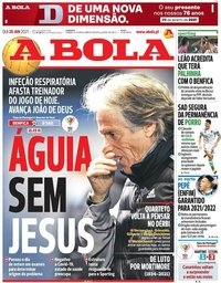 capa Jornal A Bola de 28 janeiro 2021