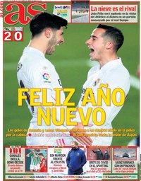capa Jornal As de 3 janeiro 2021