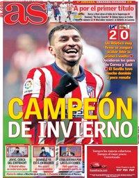 capa Jornal As de 13 janeiro 2021