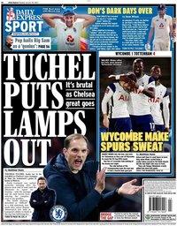 capa Jornal Daily Express Sport