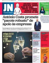 capa Jornal de Notícias de 1 janeiro 2021