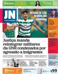 capa Jornal de Notícias de 3 janeiro 2021