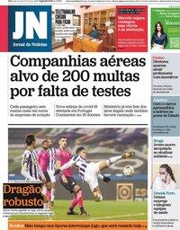 capa Jornal de Notícias de 4 janeiro 2021