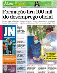 capa Jornal de Notícias de 5 janeiro 2021