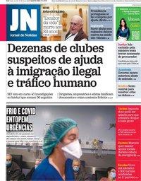 capa Jornal de Notícias de 6 janeiro 2021