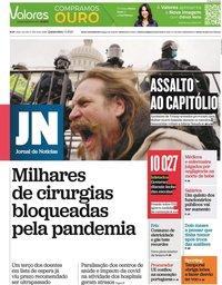 capa Jornal de Notícias de 7 janeiro 2021