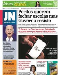 capa Jornal de Notícias de 8 janeiro 2021