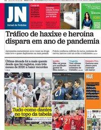 capa Jornal de Notícias de 9 janeiro 2021