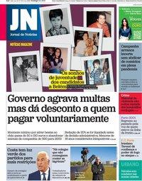 capa Jornal de Notícias de 10 janeiro 2021