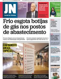 capa Jornal de Notícias de 12 janeiro 2021