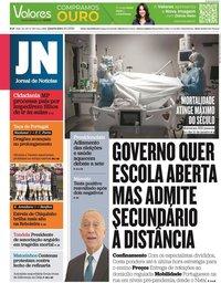 capa Jornal de Notícias de 13 janeiro 2021