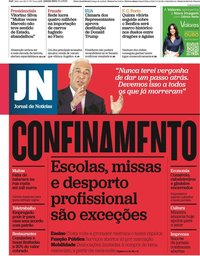 capa Jornal de Notícias de 14 janeiro 2021