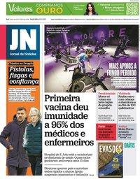capa Jornal de Notícias de 15 janeiro 2021