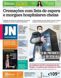 capa Jornal de Notícias de 17 janeiro 2021