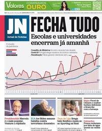 capa Jornal de Notícias de 21 janeiro 2021