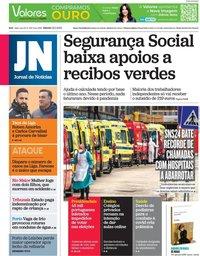 capa Jornal de Notícias de 23 janeiro 2021
