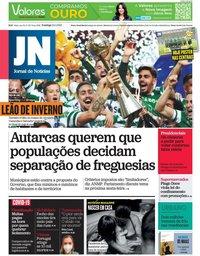 capa Jornal de Notícias de 24 janeiro 2021