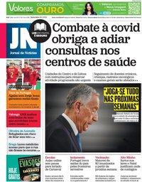 capa Jornal de Notícias de 29 janeiro 2021
