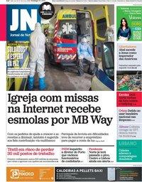 capa Jornal de Notícias de 31 janeiro 2021