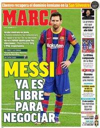 capa Jornal Marca de 1 janeiro 2021