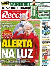 capa Jornal Record de 6 janeiro 2021