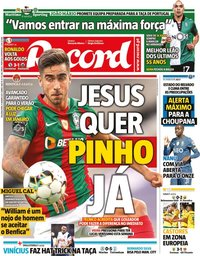 capa Jornal Record de 11 janeiro 2021