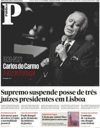 capa Público de 2 janeiro 2021
