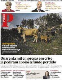 capa Público de 3 janeiro 2021