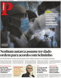 capa Público de 5 janeiro 2021