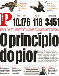 capa Público de 9 janeiro 2021