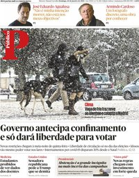 capa Público de 10 janeiro 2021