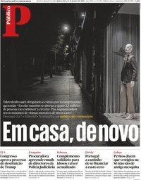 capa Público de 14 janeiro 2021